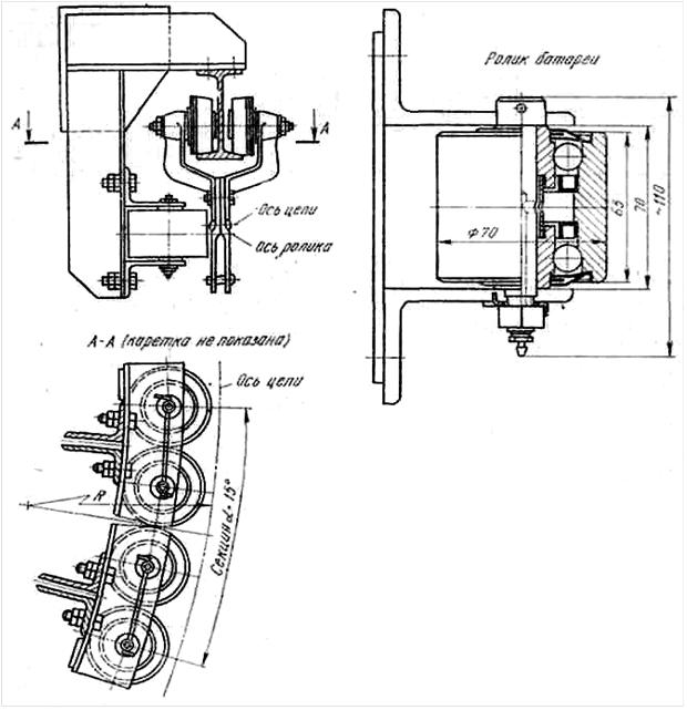 чертеж каретки подвесного конвейера